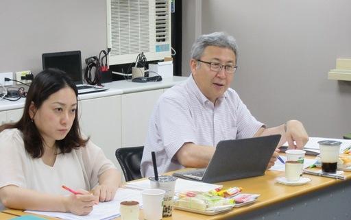 日本公益財團法人大學基準協會究部長工藤潤先生及副主幹原和世小姐拜訪台評會