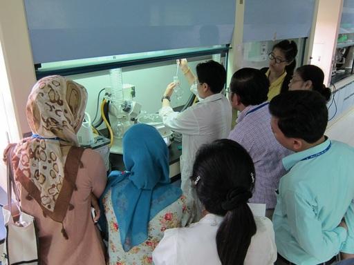 美和科大東南亞國際食安培訓研習會,吸引來自各東南亞國家對食品安全分析議題有興趣之產官學代表來台