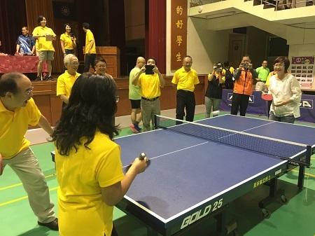 106年度暑期「崇法盃」靑少年桌球賽-長官開球