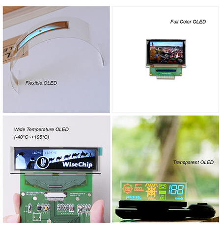 PMOLED面板特性轻薄、省电具广视角,结构较其他监视器简单,更易于设计嵌入终端产品。