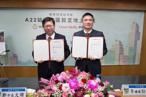 桃園市長鄭文燦(圖左)、合和集團總裁李勁宏(圖右)