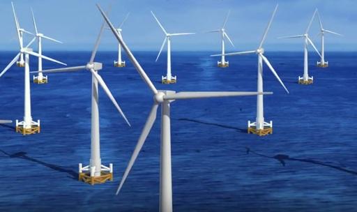 台電第一期離岸風電計畫將在彰化外海豎立21架風機向海風借電