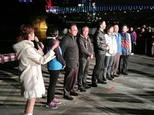 新北市長朱立倫共同主持開幕啟動儀式。