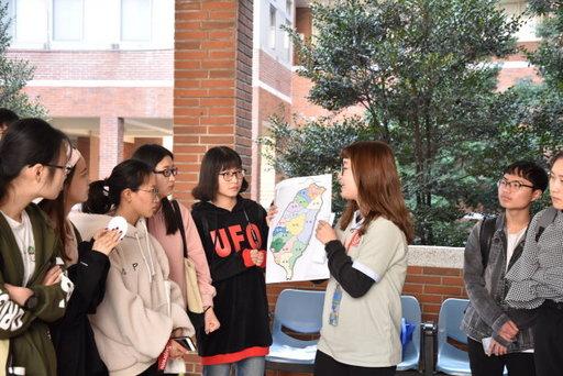 境外生透過闖關活動認識校園環境及台灣的地理人文。