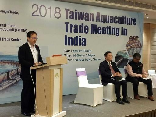 貿協會王熙蒙副秘書長4月6日致詞揭開台印度養殖漁業採購商談會的序幕.