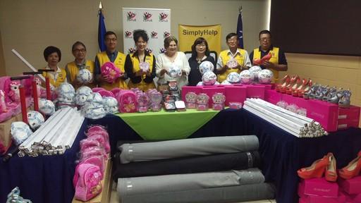 「幫幫忙基金會」鮑曉黛會長一行拜會薩國託芭副總統夫人,並進行布料、玩具等物資捐贈。