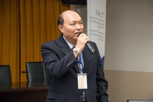 北商大校長張瑞雄今日對「區塊鍊及其應用」發表看法。