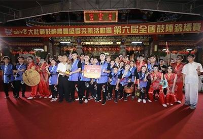 龍華科大龍韻鼓陣社,勇奪2018全國鼓陣大賽,創意鼓藝錦標賽公開組亞軍。
