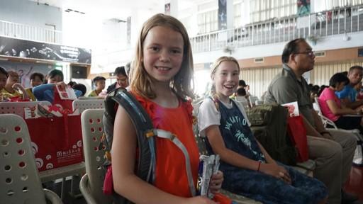 外國小朋友也來體驗臺南陣頭文化