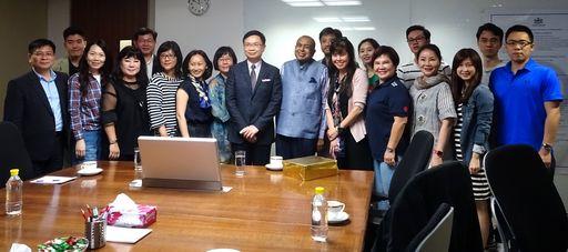 黃志芳董事長日前帶領第二期學員拜訪印度知名企業MODI ENTERPRISES