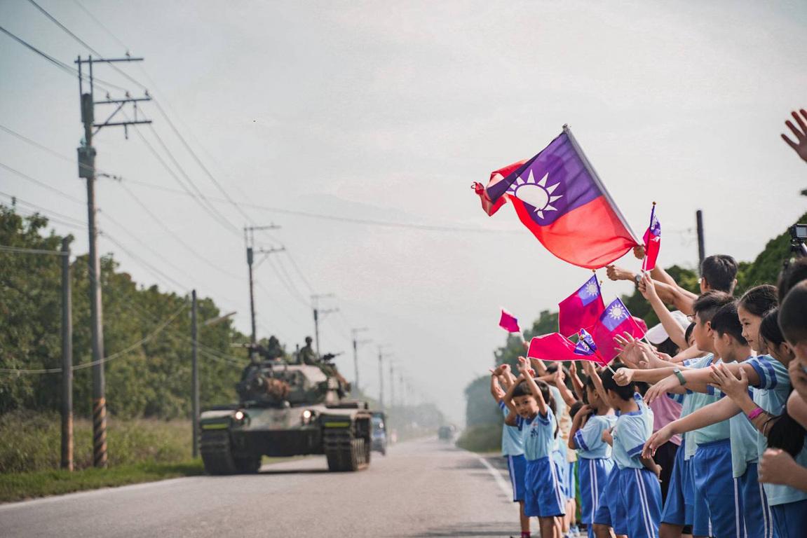 Brandishing the flag