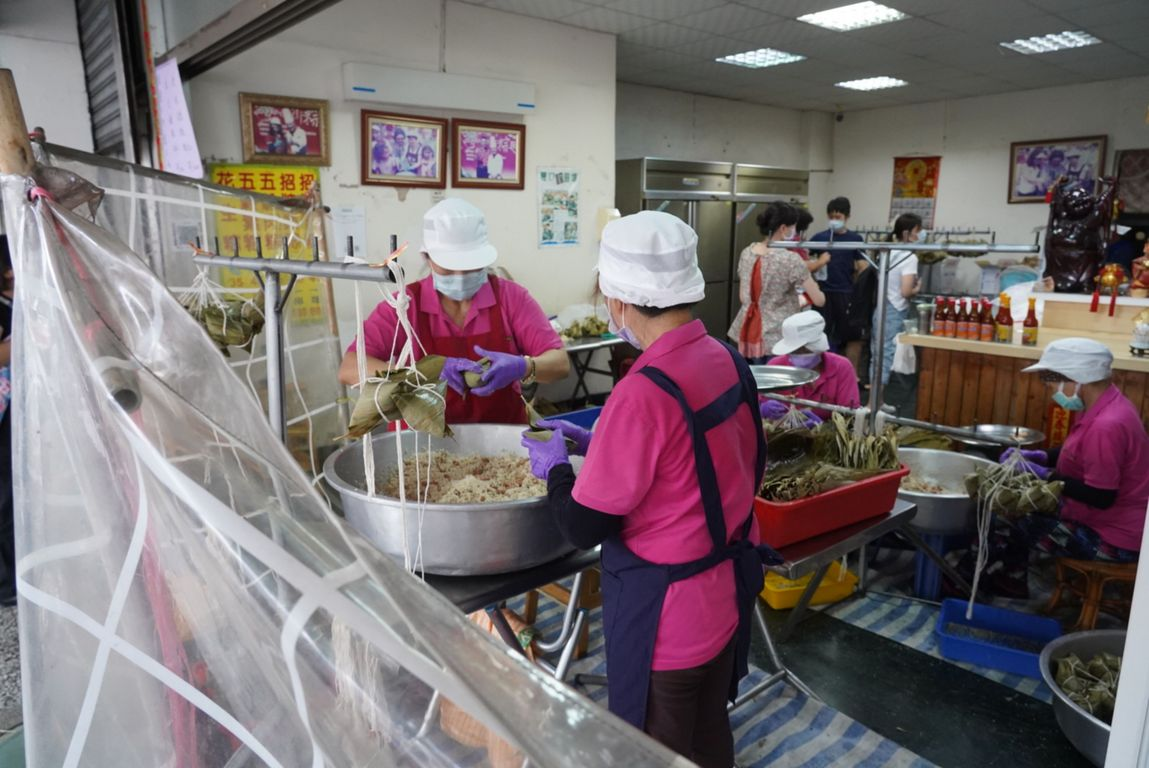 Busy making zongzi