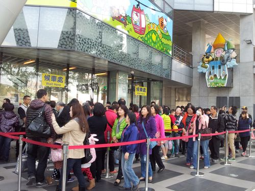 Outside the Taipei Zoo station of the Maokong Gondola cable car system Friday.