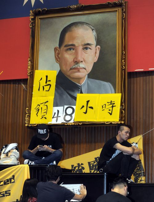 Countdown of protesters