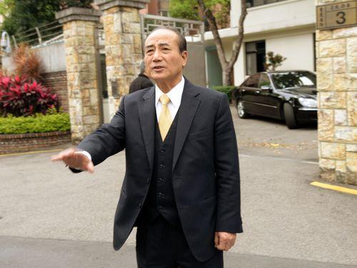 Legislative Speaker Wang Jin-pyng, outside his residence in Taipei