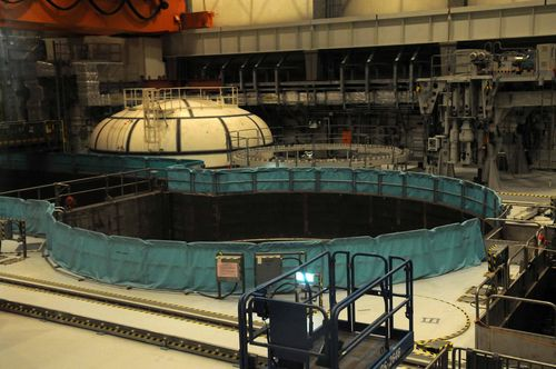 One of the two reactor cavities at the fourth nuclear power plant. CNA photo June 3, 2013