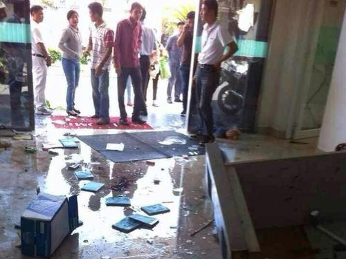 Looted Taiwanese factory in Vietnam. (Photo courtesy of Vietnam-based Taiwanese businessmen)