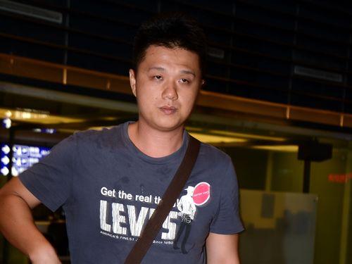 Wang, upon arrival at Taiwan Taoyuan International Airport Wednesday.