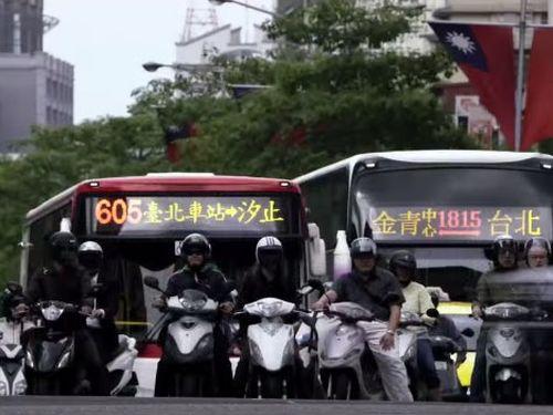 A Taipei street scene seen in a trailer of