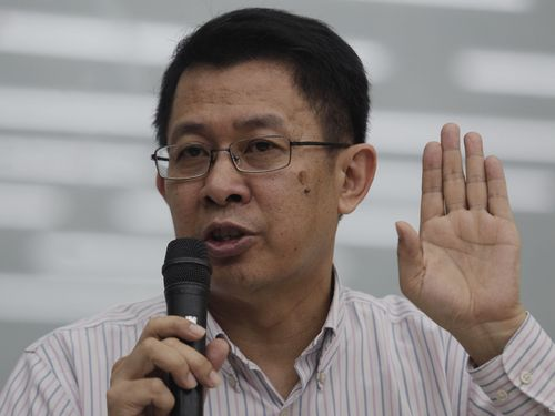 Chiang Wei-ling at a press conference on July 13, a day before his resignation.