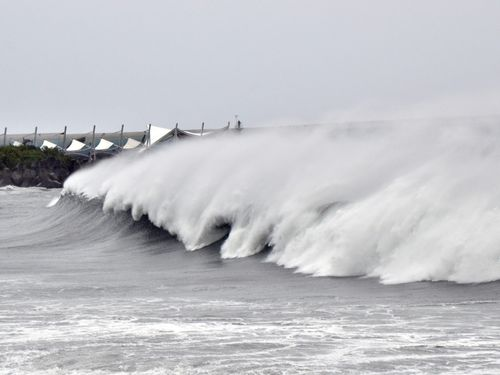 Waves in Taitung County Tuesday