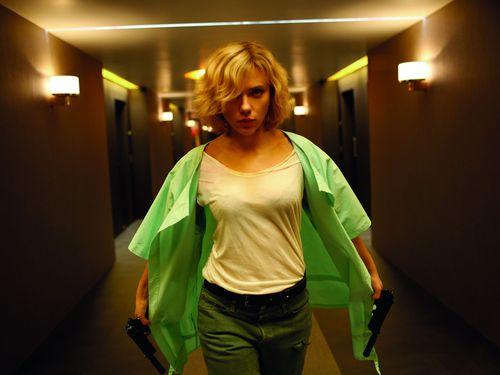 Actress Scarlett Johansson in a scene from