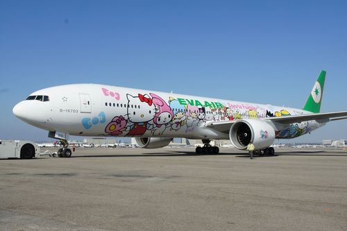 An EVA Air Boeing 777-300 with Hello Kitty livery. (CNA file photo)