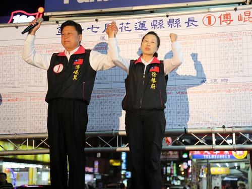 Fu Kun-chi (left)