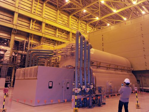 Inside the fourth nuclear power plant in New Taipei (CNA file photo)