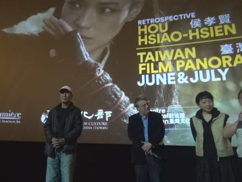 Taiwanese film director Hou Hsiao-hsien (left).