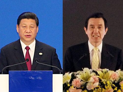 Taiwan President Ma Ying-jeou (right) and Chinese President Xi Jinping (file photos).