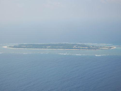 Taiwan-controlled Taiping Island in the South China Sea.