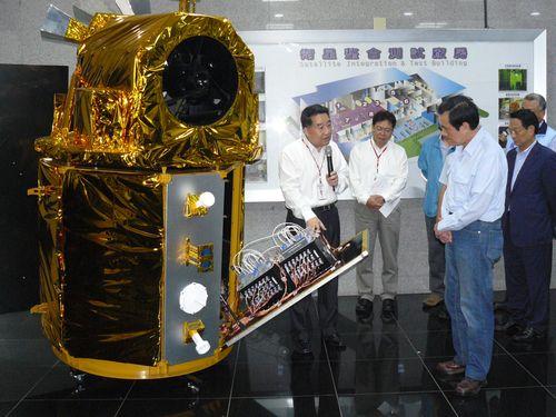 A model of Formosat-5. (CNA file photo)