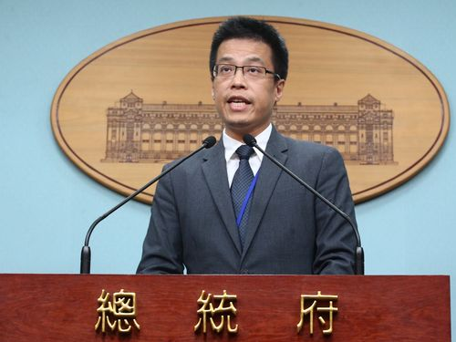Presidential Office spokesman Alex Huang (CNA file photo)