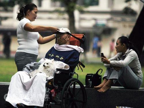 (Foreign caregivers, CNA file photo)