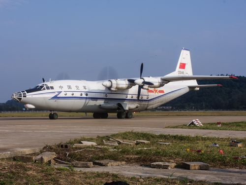 A Shaanxi Y-8 aircraft. Photograph by Alert5, distributed under a CC BY-SA 4.0 license.