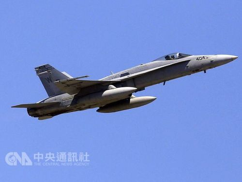 CNA file photo of a F-18 fighter aircraft