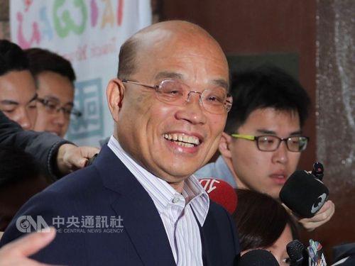 Former Premier Su Tseng-chang (蘇貞昌, front, center)