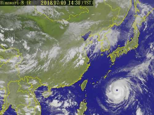 Satellite image taken from Central Weather Bureau