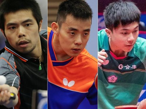 From left-right: Chuang Chih-yuan (莊智淵/CNA file photo); Chen Chien-an (陳建安/CNA file photo); Lin Yun-ju (林昀儒/Image taken from the official website of International Table Tennis Federation (ITTF) at https://www.ittf.com/