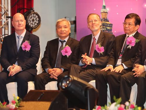 Brent Christensen (second right)