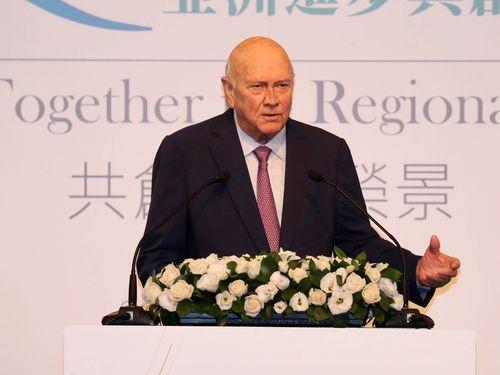 Former South African President Frederik Willem  de Klerk