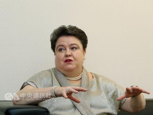 Madeleine Majorenko, head of the European Economic and Trade Office (EETO) / CNA file photo