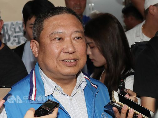 Lin Hong-dow (林鴻道, front), president of the Chinese Taipei Olympic Committee (CTOC) / CNA file photo