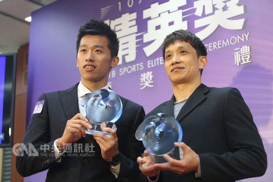 Lee Chih-kai (李智凱, left) and Lin Yu-hsin (林育信)