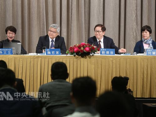 Chairman C.C. Wei (魏哲家, second left)
