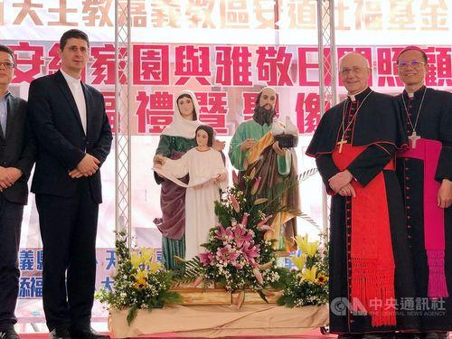 Cardinal Fernando Filoni (second right)