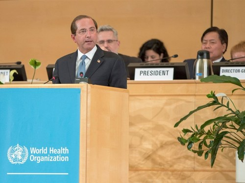 U.S. Health and Human Services Secretary Alex Azar (front) (Photo taken from witter.com/secazar)