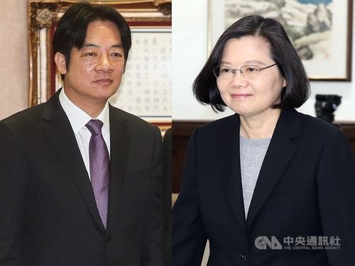 President Tsai Ing-wen (蔡英文, right) and former Premier Lai Ching-te (賴清德)/CNA file photo