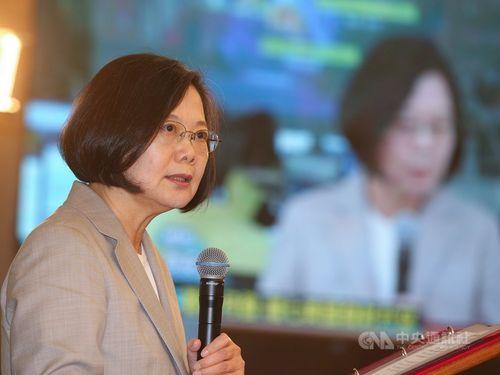 President Tsai Ing-wen at National Space Organization in Hsinchu.